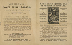 Advert for Seigel's Medicine